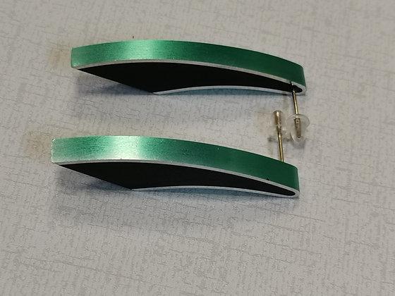 Panayotav Green/Black Earrings