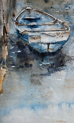 """""""Blue Boat""""  Ltd Ed Giclee Print by Gary Griffiths"""