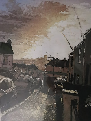 """Sundown at St Thomas"" Print by Rhona Tooze"