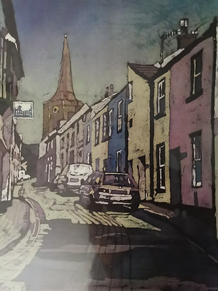 """""""Cresswell St - Tenby """" Print by Rhona Tooze"""
