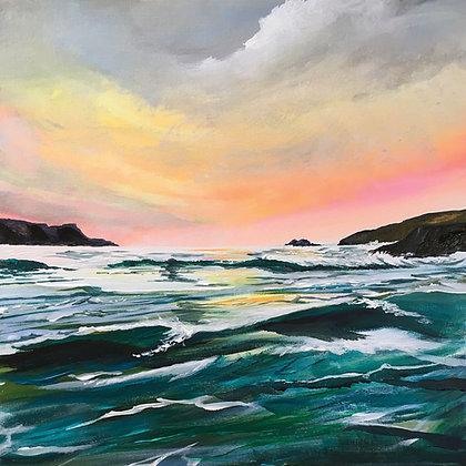 'Solva Sunset' - Jill Jones Rise Exhibition