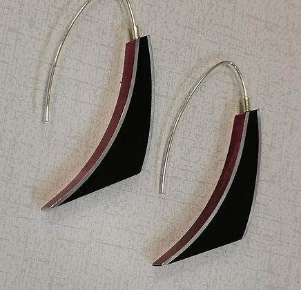 Panayotav Cerise/Black Earrings