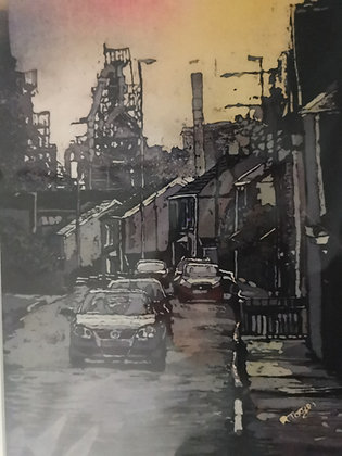 """Leaving Port Talbot"" Print by Rhona Tooze"