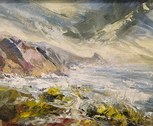"""""""Yellow Storm Clouds - Newgale"""" by Victoria Reynolds"""
