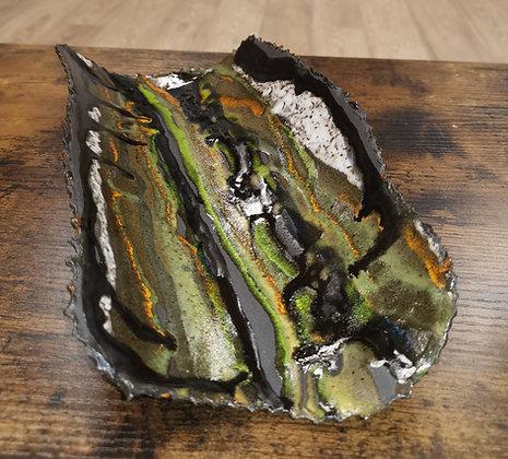 Green Coral Platter - The Black Coral Range - Lesley Badger