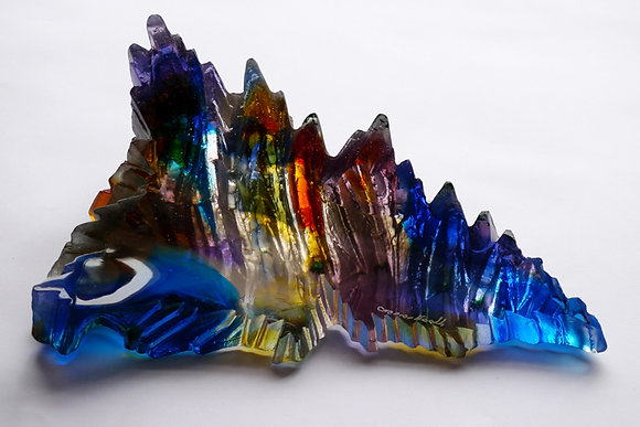 """The Island"" Glass Sculpture - Crispian Heath"