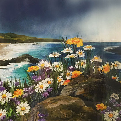 """Rainy Daisies""- Jill Jones Rise Exhibition"