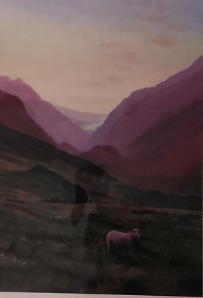 """""""Llanberis Pass at Dusk"""" Limited Ed Giclee Print by Dave Roberts"""