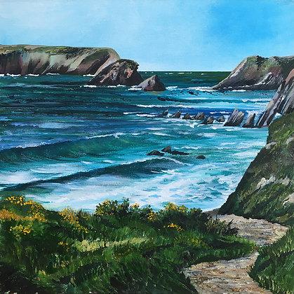 """Island Blue - Marloes and Gateholm""  Print - Jill Jones"