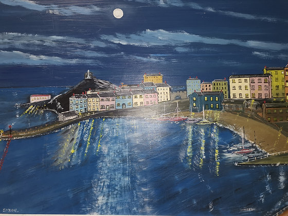 """Tenby by Moonlight"" - Byron J Lambert"