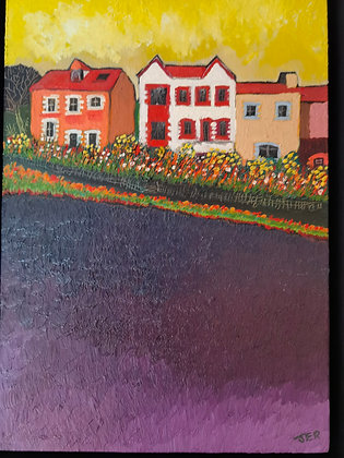 """""""Rear of Bryn Cottages"""" - Porth"""" by Janette Roberts"""