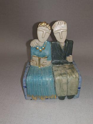 "Ceramic Sculpture ""A Good Tale II - Val James"