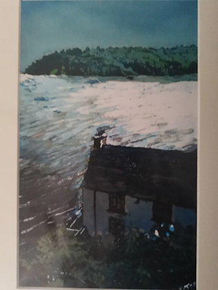 """Boathouse Laugharne"" Small - Print by Rhona Tooze"
