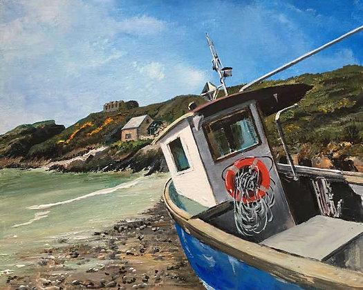 """Blue Boat""  Giclee Limited Edition Print - Jill Jones"