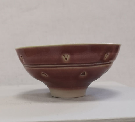 "Exquisite Petite ""Pink/Bronze Bowl"" by Peter Wills"