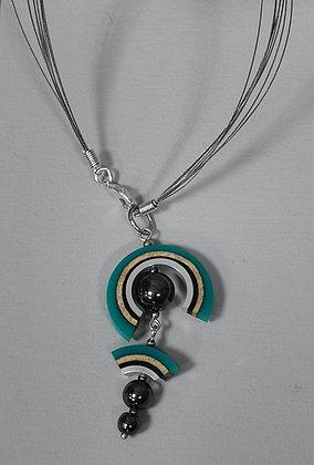 Panayotav Turquoise Swirl Pendant