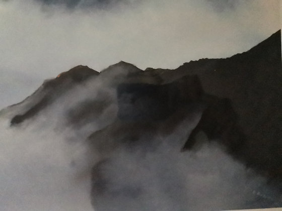 """Above the Clouds, Cadair Idris"" Limited Ed Giclee Print by Dave Roberts"