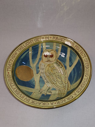"""Large """"Owl Bowl"""" by Margaret Brampton"""