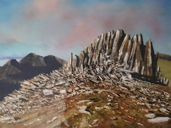 """""""Castell Y Gwynt at Dawn"""" Limited Ed Giclee Print by Dave Roberts"""