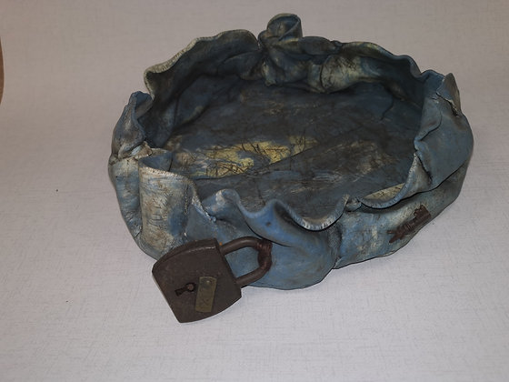 """""""French Padlock and Key"""" - The Lost and Found Range - Lesley Badger"""
