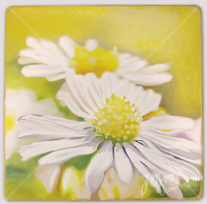 """Daisy"" Framed Oil Painting by James Summerbell"