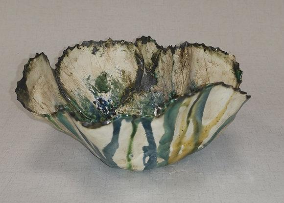 Anenome Blue Coral Bowl - The Coral Range - Lesley Badger