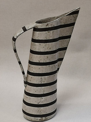 Tall Angled Stripe Jug  - Polliana Bandeira