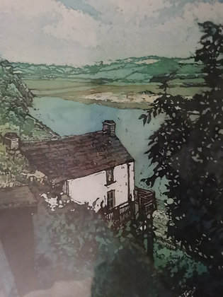 """Boathouse Laugharne"" Print by Rhona Tooze"