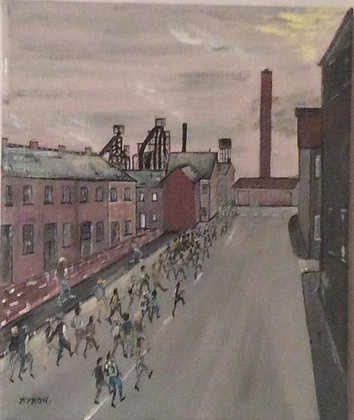 Before the Shift - Steelworks Port Talbot - Oil - Byron J Lambert