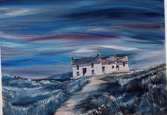 """Midnight Pembrokeshire Cottage II"" Giclee Print - Jill Jones"