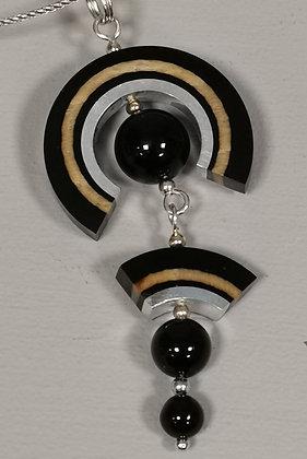 Panayotav Black Swirl Pendant