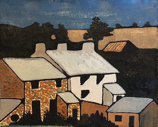 """""""Farm Unkown - Ogmore Vale"""" by Janette Roberts """"Over Reaction"""" Exhibition"""