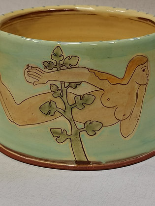 "Large  ""Adam and Eve Bowl "" by Margaret Brampton"
