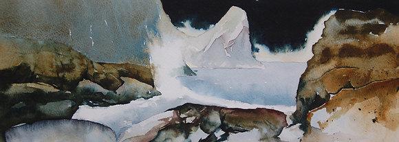 """Llangrannog - The Wave"" Ltd Ed Giclee Print by Gary Griffiths"