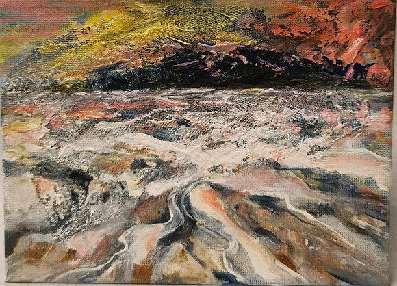 Sunset, Porth Malgan - Victoria Reynolds Miniatures