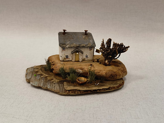 """Marsh Cottage"" Driftwood Sculpture by Trysorau Cymraeg"