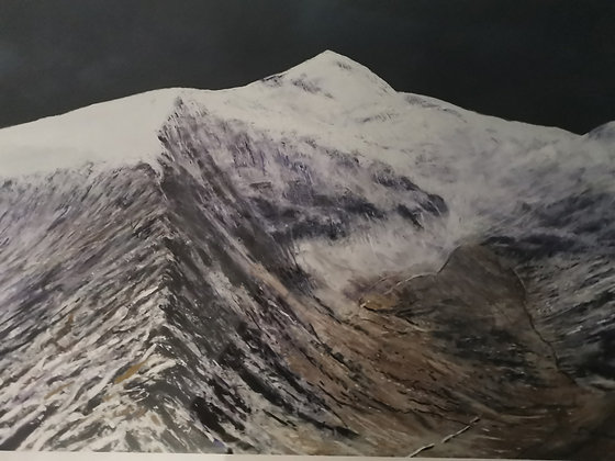 """""""Snowdon in White"""" Limited Ed Giclee Print by Dave Robe"""