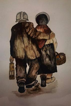 """""""Miner's Wife - Print by Charlene Hopkins"""