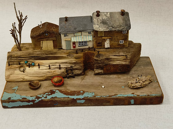 """The Old Bakery"" Driftwood Sculpture by Trysorau Cymraeg"