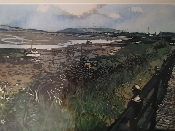 """Loughor Estuary"" Print by Rhona Tooze"