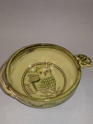 "Small  ""Owl Dessert/Soup Bowl III "" by Margaret Brampton"