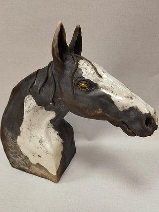 """Horse Head - Raku"" by Keely Clarke Ceramics"