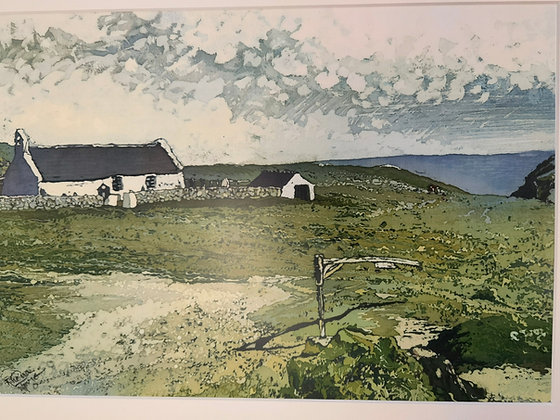 """Mwnt Chapel"" Print by Rhona Tooze"