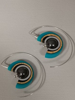 Panayotav Turquoise Swirl Earrings