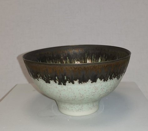 Little Flecked Green/Purple Bronze Bowl by Peter Wills