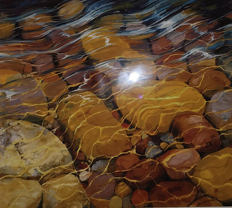 """Pebble Ripples"" Limited Edition Signed Print 173/250 - Andrea Kelland"