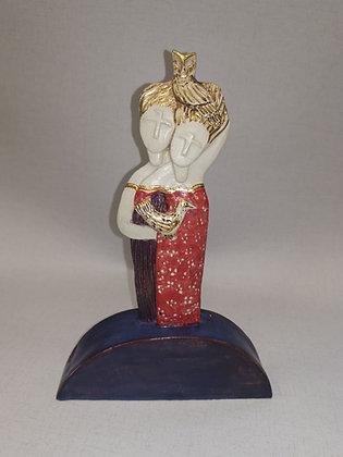 "Ceramic Sculpture ""Spirit Sisters II - Val James"