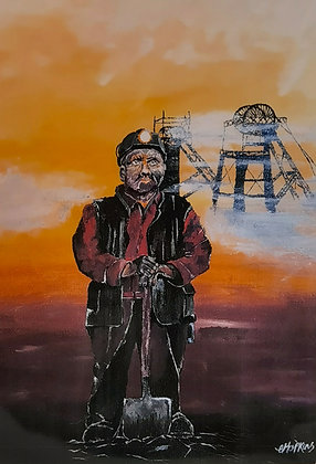 """""""The Keeper of the Colliery"""" - Print by Charlene Hopkins"""
