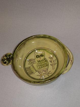 """Small  """"Owl Dessert/Soup Bowl VI """" by Margaret Brampton"""