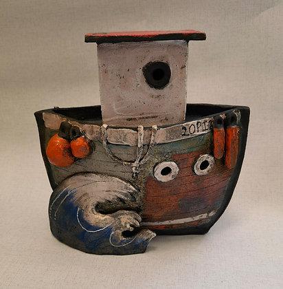 """Big Tug Boat """"Cychod Mawr -  by Pi Potters"""